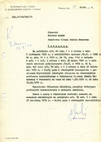 Letter concerning Baird's work as a contractual professor at the State School of Music in Warsaw