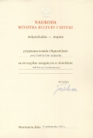 Minister of Culture and Arts Award