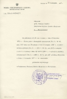 Notification of full professorship at at the State School of Music in Warsaw