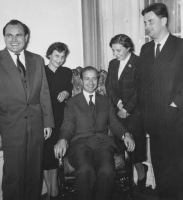 Baird with Kazimierz Serocki and his wife, Alina Sawicka and Tadeusz Marek